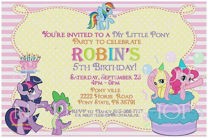 my little pony baby shower invitations