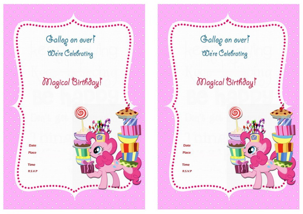 my little pony birthday invitations for the invitations design of your inspiration baby shower invitation templates party 9