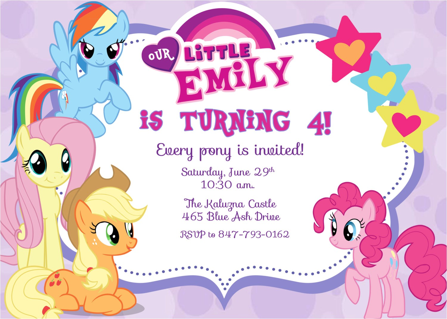 My Little Pony Printable Birthday Invitations Free Printable My Little Pony Birthday Invitations