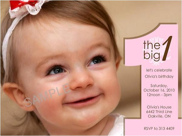 first birthday invitations sample