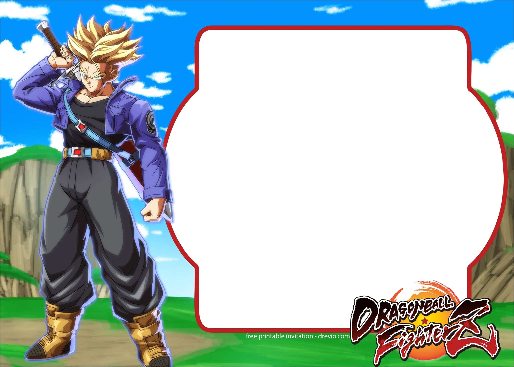 free dragon ball fighter z invitation template