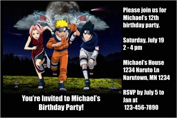 naruto invitations 2