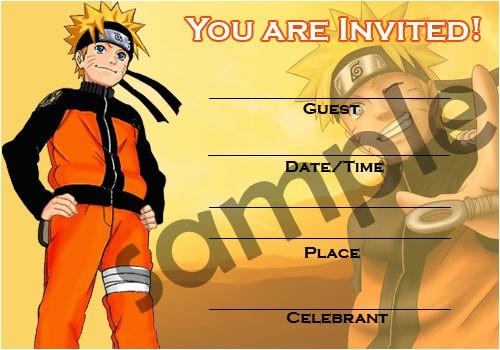 naruto shippuuden invitation card
