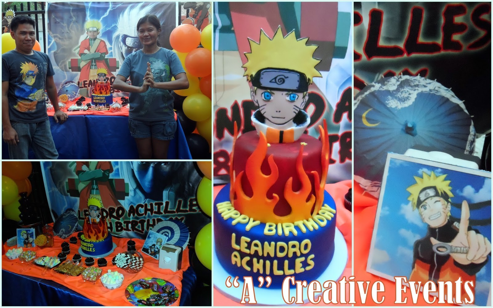 naruto themed party for leandro achilles
