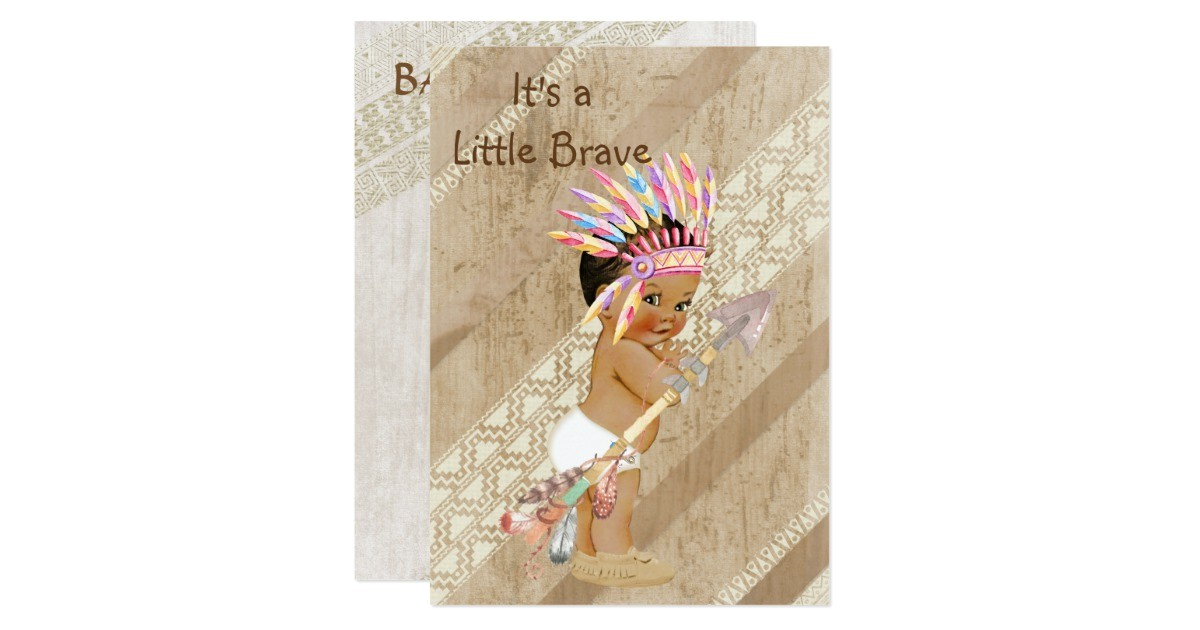 native american baby shower invitation