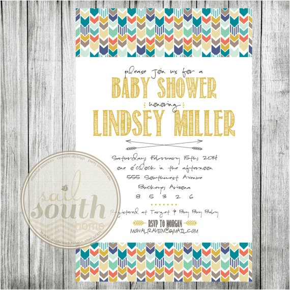 tribal baby shower invitation custom
