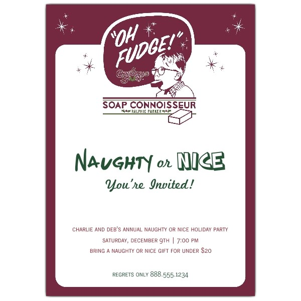 Naughty or Nice Holiday Party Invitations p 803 57 014