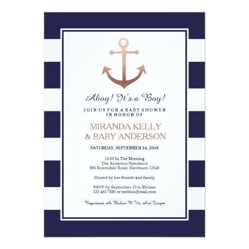 nautical baby shower invites