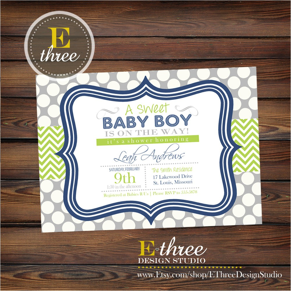 cheap nautical baby shower invitations