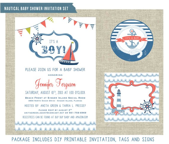nautical themed baby shower invitation ref=shop home active