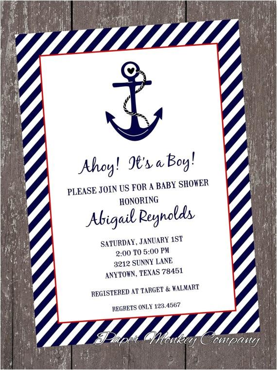 nautical baby shower invitations 100