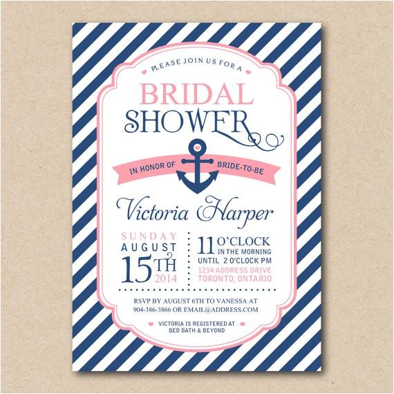 bridal shower invitation nautical