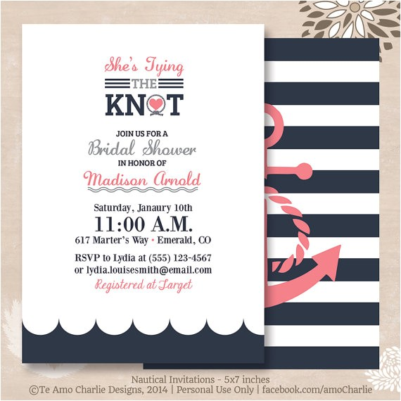 tying the knot nautical bridal shower
