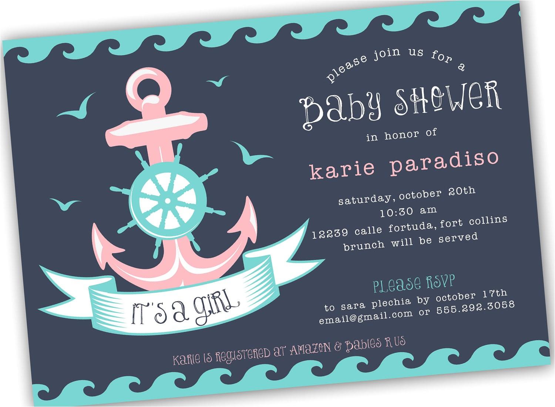 nautical baby shower invitations etsy