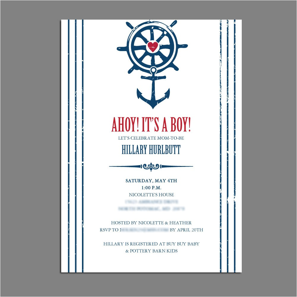 nautical beach theme baby shower