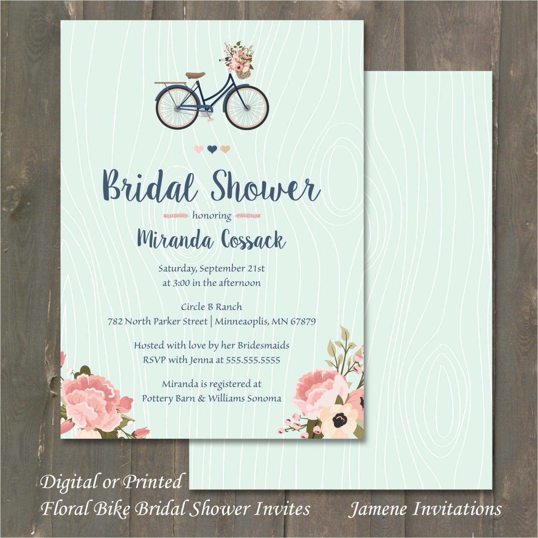 bridal shower invitation blush pink and