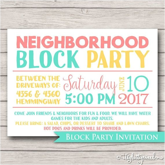 block party invites