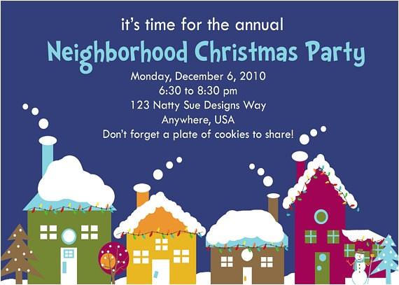 custom neighborhood holiday party