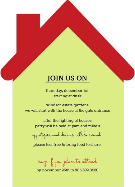 merry and bright neighborhood holiday party invitation