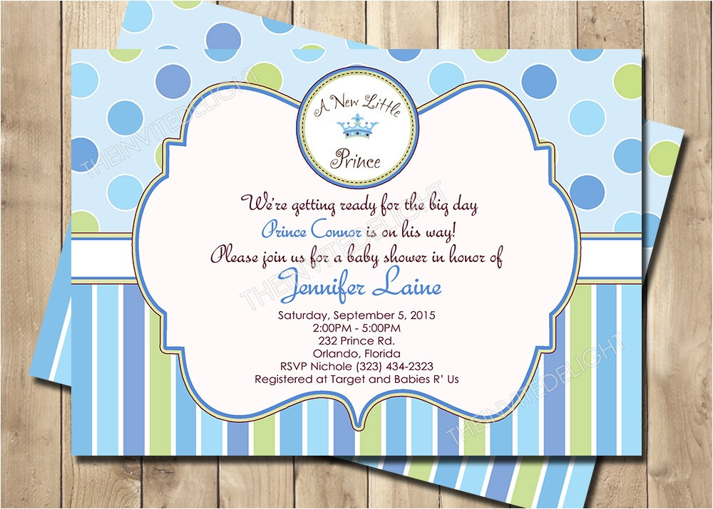 a new little prince baby shower
