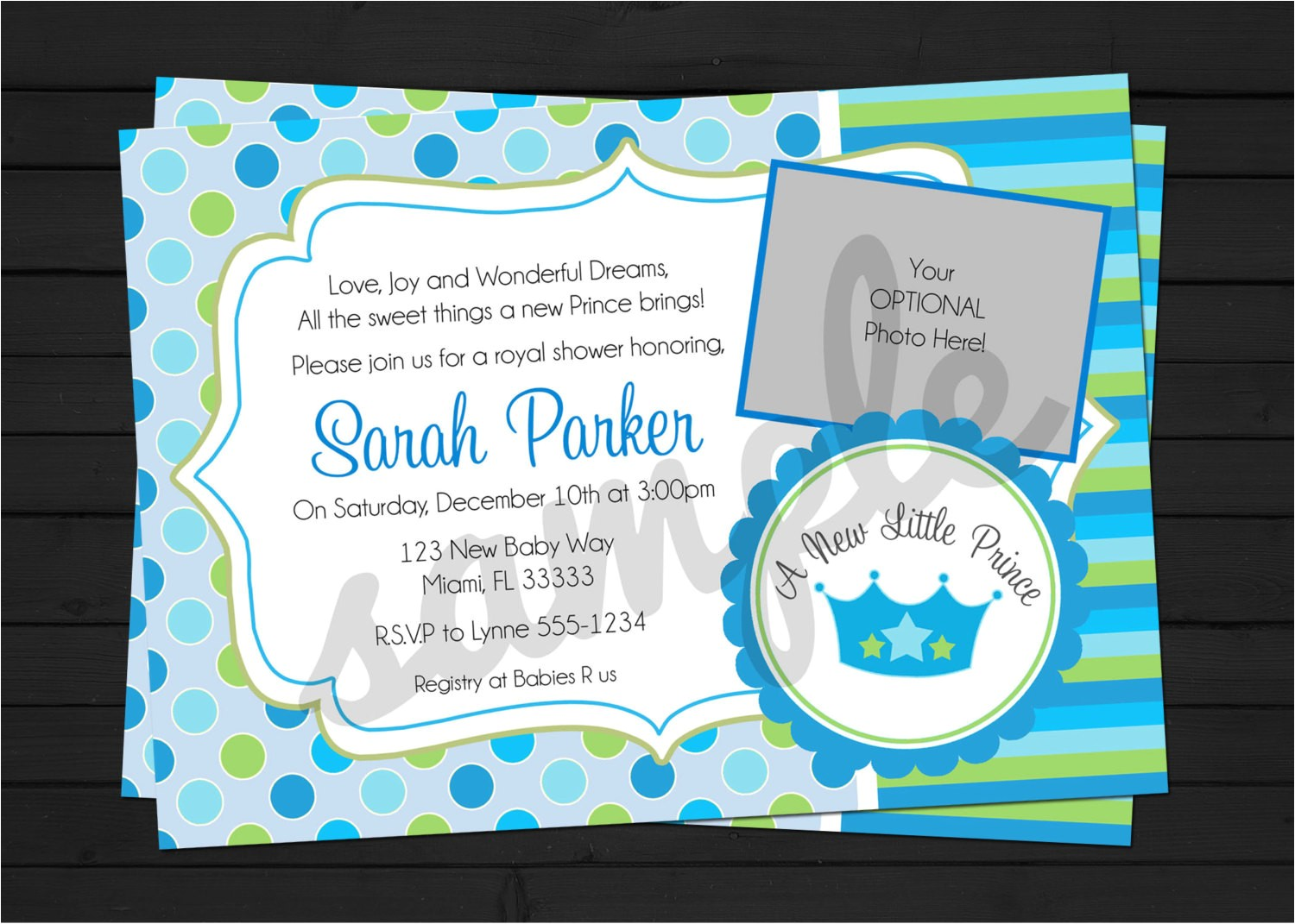 little prince baby shower invitation