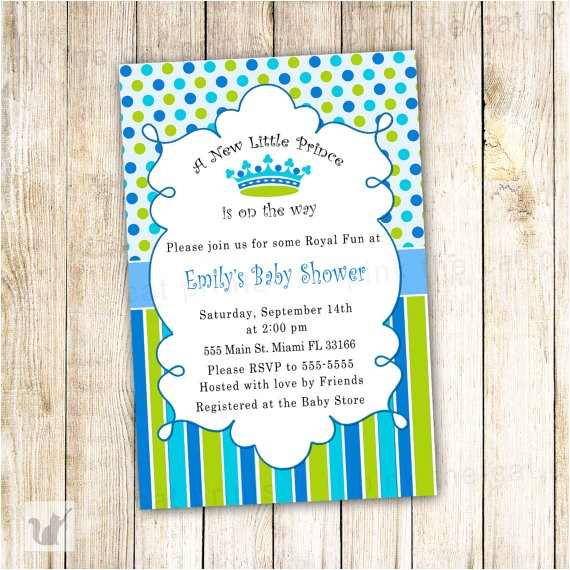 new little prince baby shower invitation