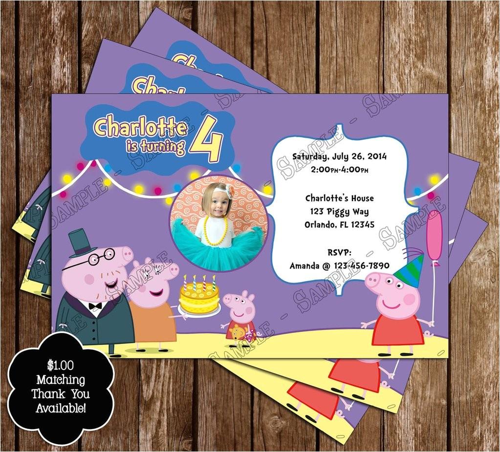 nick jr peppa pig birthday party invitation