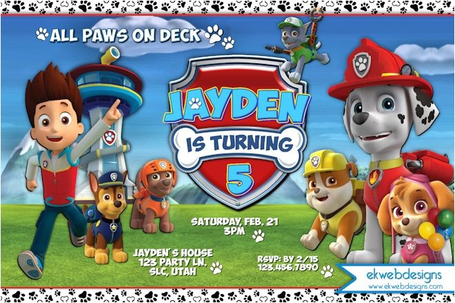 Nick Jr Paw Patrol Birthday Invitations Paw Patrol Birthday Supplies Nick Jr