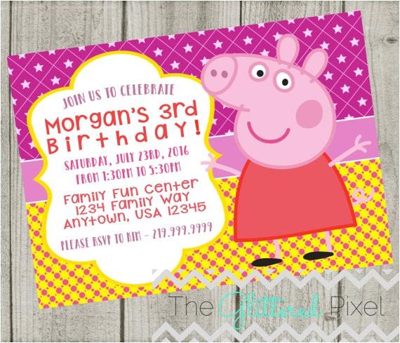 printable peppa pig birthday invitation