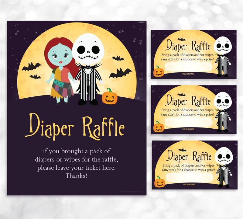 nightmare before christmas diaper raffle