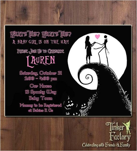 nightmare before christmas bridal shower invitations