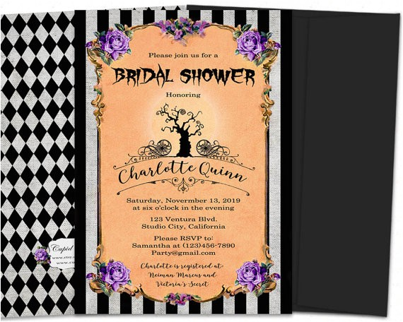 nightmare before christmas bridal shower