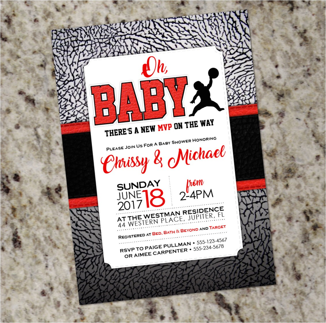 air jordan baby shower invitations baby