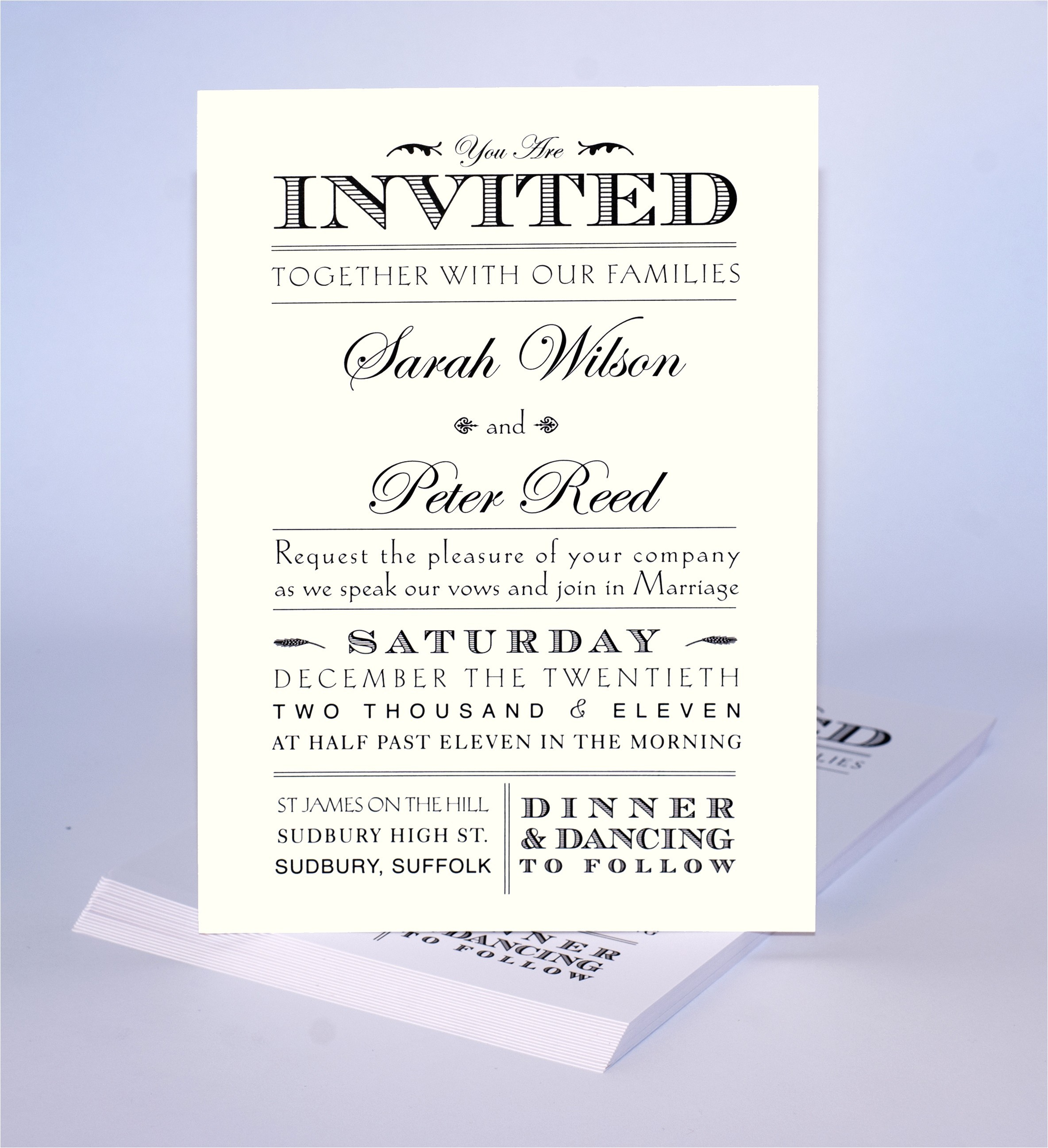 wedding invitation wording non traditional