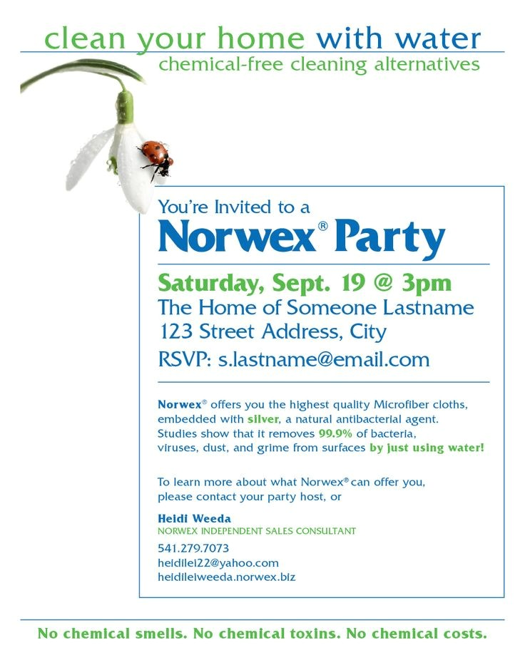 Norwex Facebook Party Invitation 80 Best Images About norwex On Pinterest