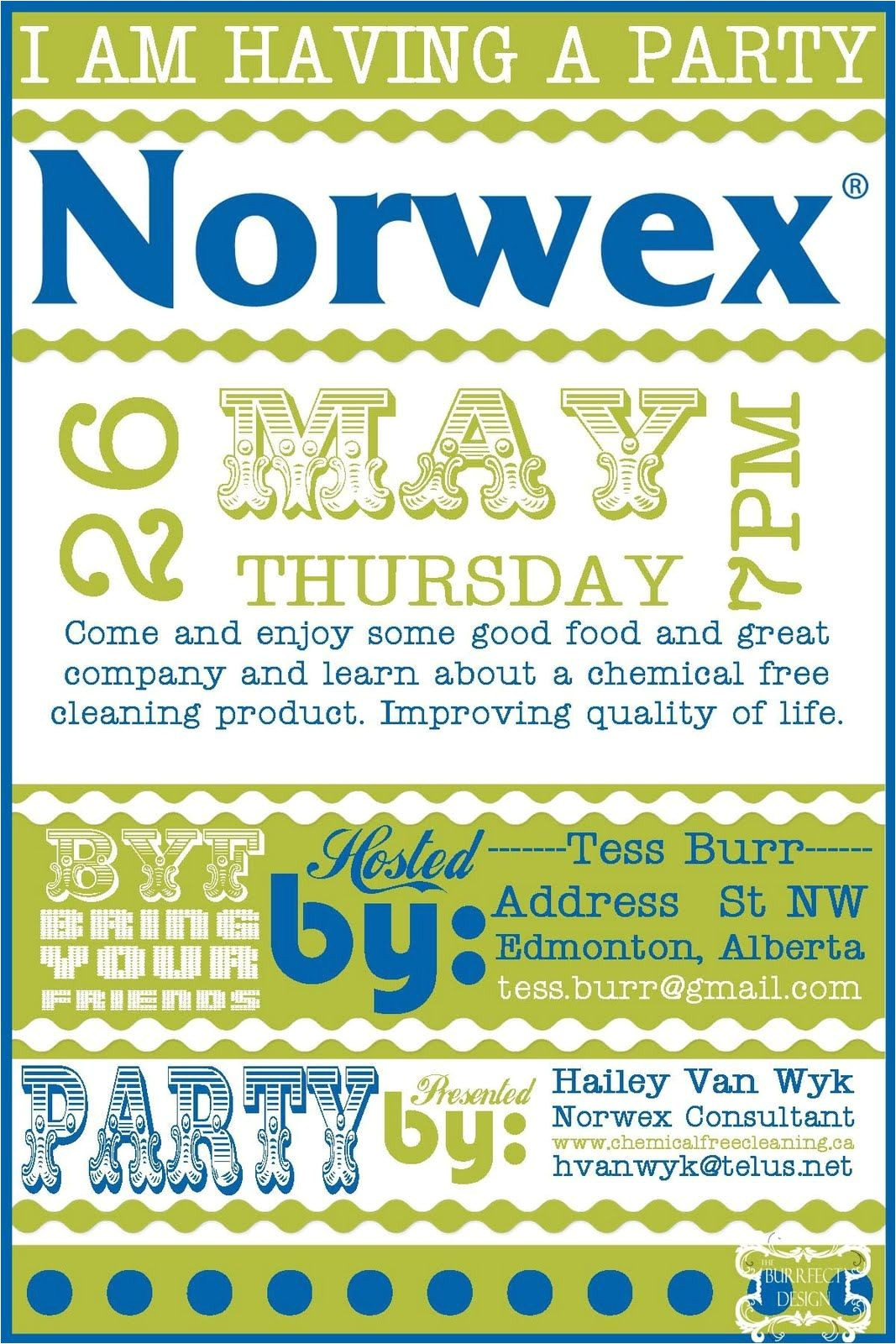 Norwex Launch Party Invitations Burrfect Design norwex Party Invite