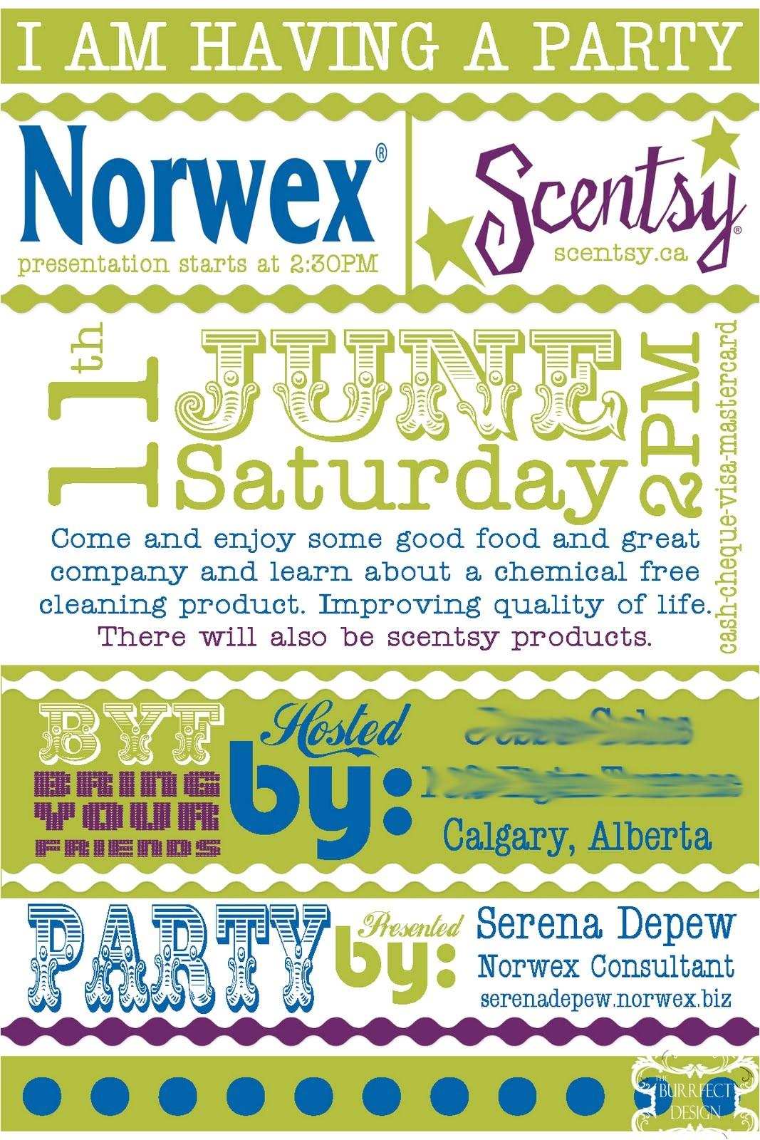 norwex invitation templates