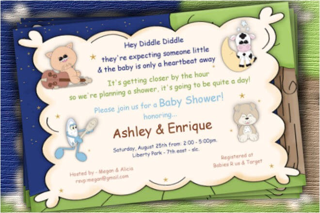 how to prepare nursery rhyme baby shower