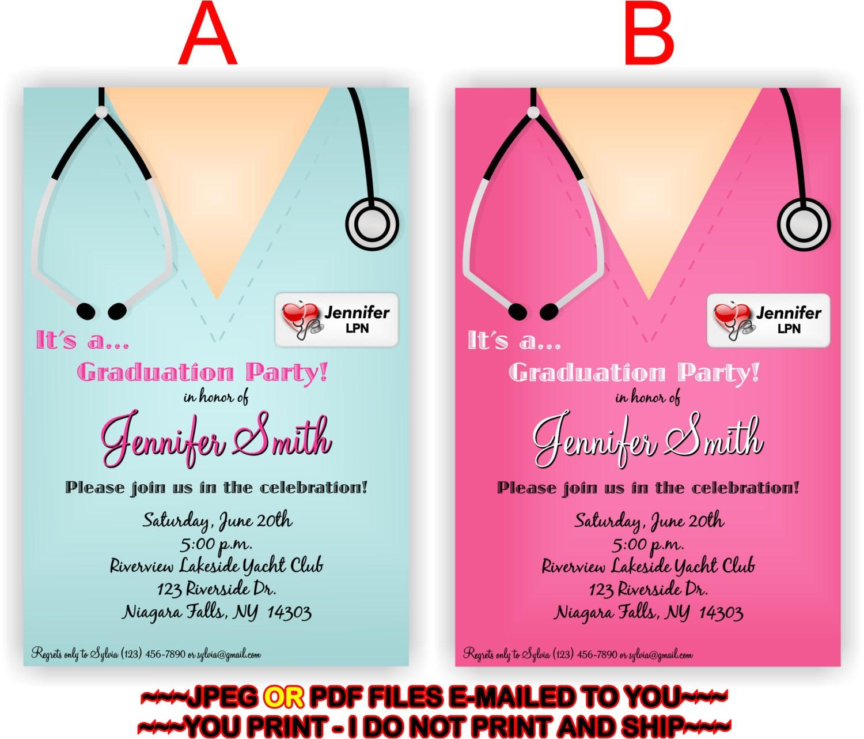 alluring nursing school graduation invitations hd images for you