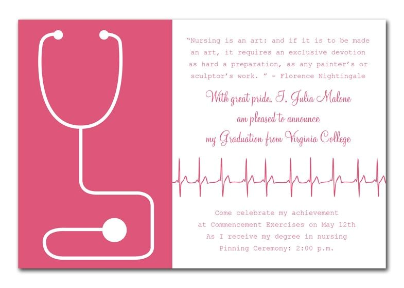 Nursing Graduation Party Invitations Templates Medical Success by Invitation Consultants