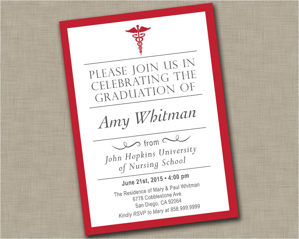 nursing school graduation invitation