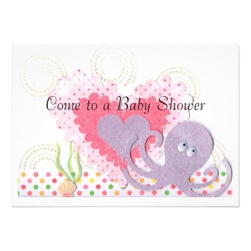 octopus baby shower invitation