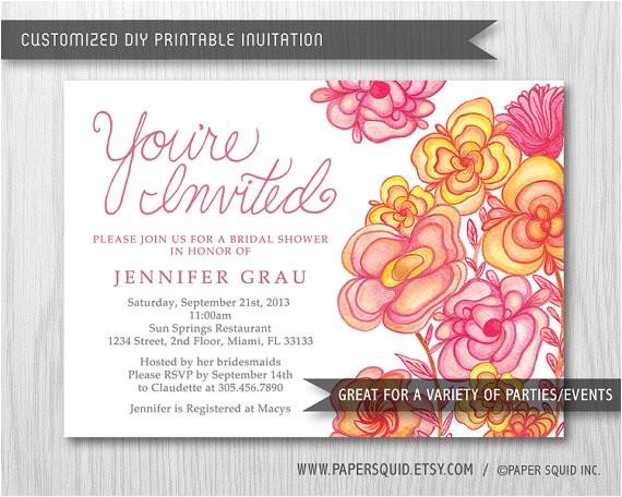 bridal shower invitations office depot