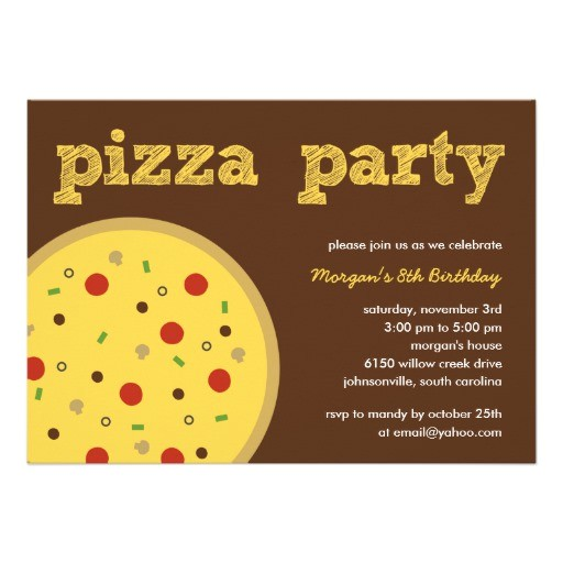 pizza party invitation 161565082174355056