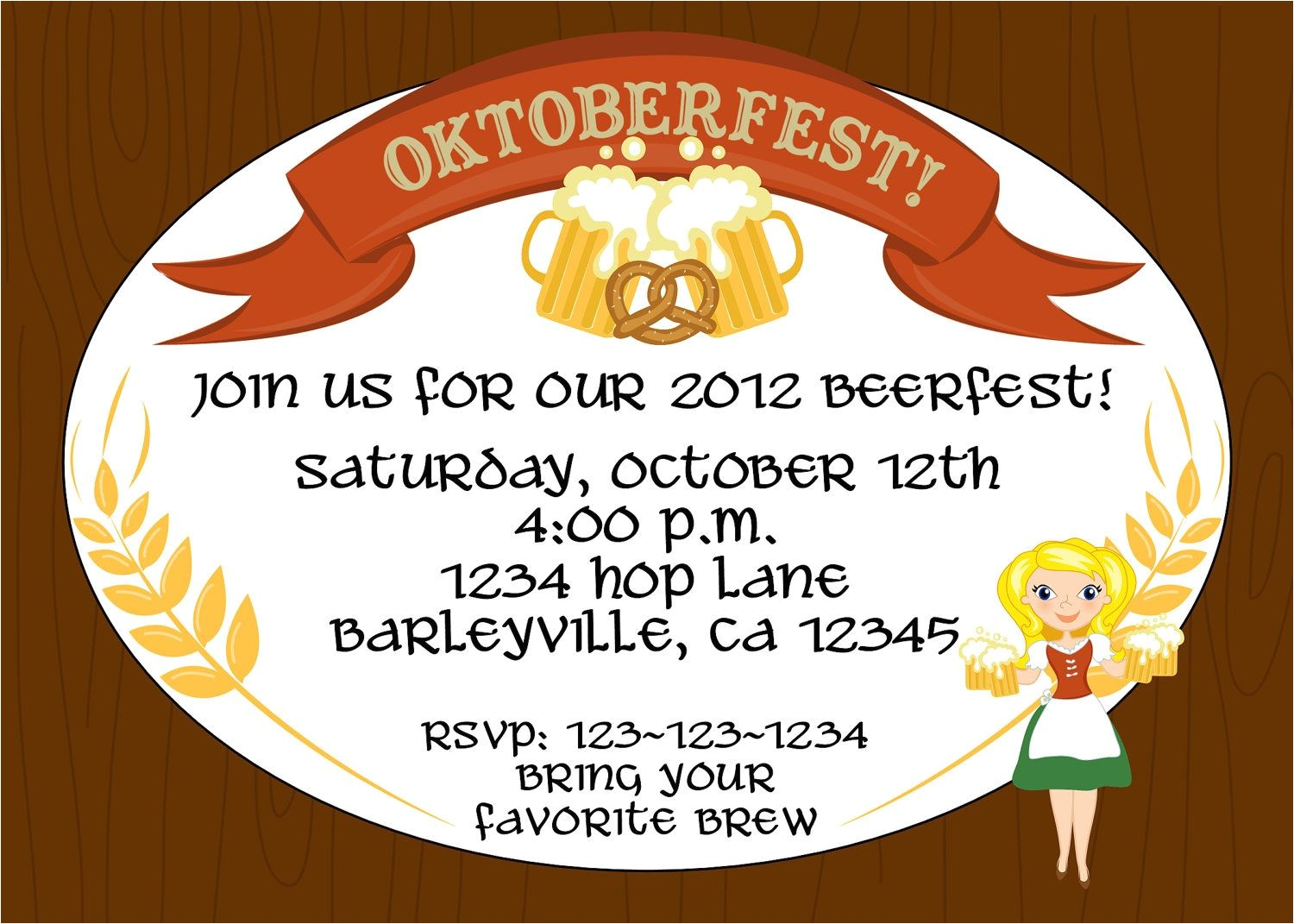 Oktoberfest Party Invitation Templates Creative Oktoberfest Beerfest Invitation Template Design