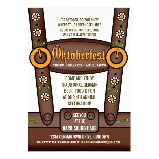 funny lederhosen oktoberfest party invitations 161467936047954700