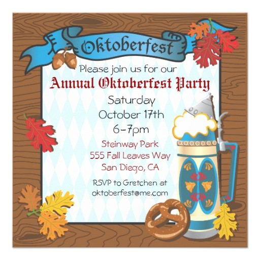 oktoberfest party invitations 161385959098362366