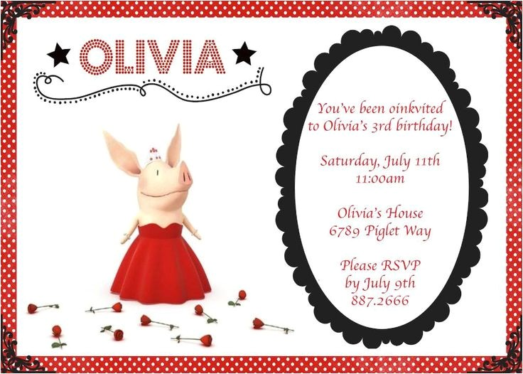 olivia the pig party