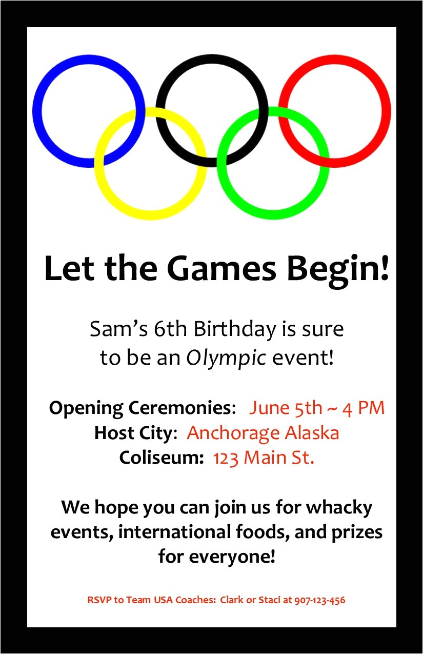 an olympic birthday party