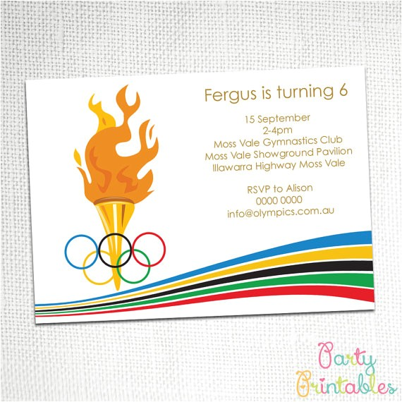 olympic party invitation